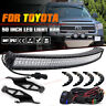 "For 2007-2014 TOYOTA TUNDRA 50"" CURVED LED Light Bar w/ Roof Mounting Bracket"