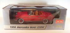 Sun Star 1/18 Mercedes Benz 220SE Cabrio rot OVP #2814