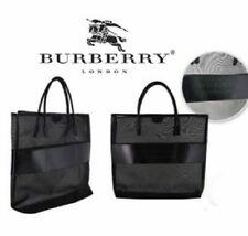 BURBERRY Fragrance Black TOTE BAG, Travel Carry-On Beach Gym Shopper Mesh XL
