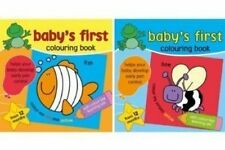 Baby First Colouring Book Set of 2 Books Helps Develop Early Pen Control