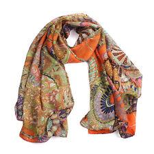 Fashion Women Girl Chiffon Printed Silk Long Soft Scarf Shawl Scarf