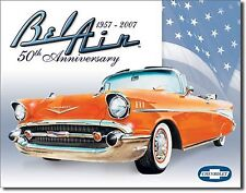 "Bel Air 57 - 2007 50Th Anniversary Hot Rods V8 Muscle Car 12.5"" X16"" Metal Sign"