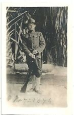 RPPC  WWI  Soldier in Full Uniform w/ Weapons  Salt Lake City Photographer
