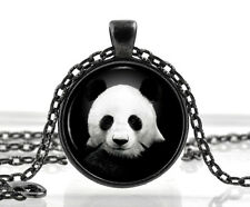 Oso Panda Collar Joyas-Blanco Y Negro Animal Colgante-Regalos Para Mujeres