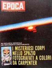 Epoca 611 1962 Lo spazio fotografato a colori da Carpenter. Parla Eichmann