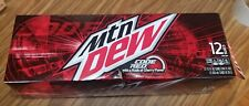🚨🍒1x 12oz 12pk mountain dew code red cans fresh🍒🚨