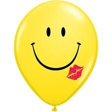 """San Valentín - 6 X Látex 11"""" globos (helio/air) (qualatex) Amor/corazones/rojo una sonrisa y un beso (amarillo) (76896)"""