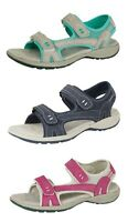 Womens Ladies Suede Leather Sports Sandals Cushioned Hiking Trail Shoes Size 3-9