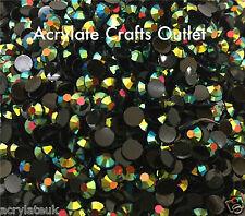 1000x 5mm ss20 Green Black AB Flat Back Round Jelly Resin Rhinestones Craft Gems