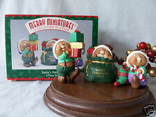 Hallmark Merry Miniatures 1996 Santa's Helpers 3 piece set