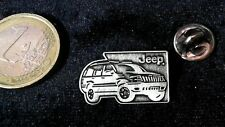 Jeep pin badge auto de acero inoxidable cepillado logotipo emblema Matt