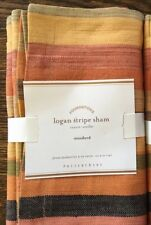 New Pottery Barn Logan Stripe Standard Sham NWT - 6 Shams Available