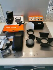 GODOX V1 N ROUND FLASH FOR NIKON  WITH LITHIUM BATTERY +ACCESSORIES NEW IN BOX