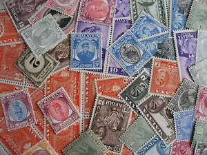 Malaya states scrap pile of 50 MNH/MH duplicates, mixed condition, see pictures!