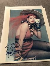 Cyndi Lauper Signed Autographed Vintage Photo