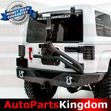 07-17 Jeep JK Wrangler Full Width Rear Bumper+Tire Carrier Single handed Linkage