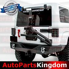 Full Width Rear Bumper+Tire Carrier Single handed Linkage Fit 07-18 JK Wrangler