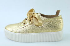 scarpe donna LEMARE' 35 sneakers oro pelle DR006