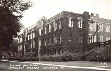 Real Photo Postcard Alumni Building at Grinnell College in Grinnell, Iowa~124458