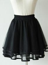 Black Ballerina TuTu Skirt  Dance Princess Tulle Pleated Mini Skirt 6 8 10 12 s6