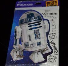 Vtg 1997 Star Wars R2-D2 PARTY INVITATIONS  8 Cards w/ Envelopes NIP Hallmark