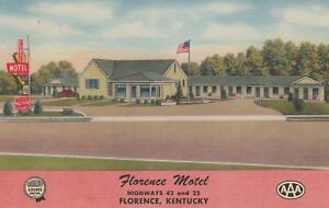 (T)  Florence, KY - Florence Motel - Exterior - Grounds - Signage - Street View