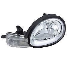2000 - 2002 DODGE NEON W/CHROME BEZEL HEADLIGHT HEADLAMP LIGHT LAMP LEFT DRIVER
