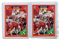 1989 Pro Set Barry Sanders RC Rookie Lot #494 (2) Cards
