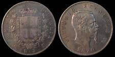 pci741) Regno Vittorio Emanuele II  lire 5 scudo 1870