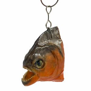 Predator Piranha Head Keyring Keychain Pygocentrus nattereri Taxidermy