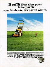 PUBLICITE ADVERTISING 094  1989  BERNARD LOISIRS   tondeuse