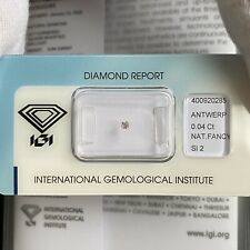 NATURAL Untreated Fancy Pink Diamond IGI CERTIFIED Sealed SI2 Cushion Cut
