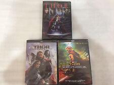 Thor DVD Bundle Set The Dark World, Thor Ragnarok New Free Shipping