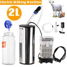 2L Elektrisch Melkmaschine Melken Kühe für Ziegen Milker Melkeimer Vakuumpumpe p