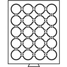 Leuchtturm (312454) Münzbox 20 Fächer für CAPS 41, rauchfarben