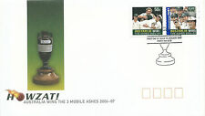 2007 FDC Ashes Cricket Win set 2 on FD1 16 Jan 2007 Perth  Special Postmark