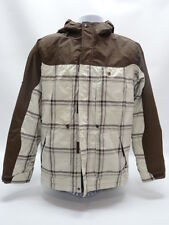 RIPZONE CORE SNOWBOARDING JACKET SIZE S/P in BROWN/BEIGE PLAID - EUC