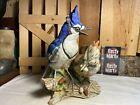 Vintage Royal Crown Blue Jay by T. Jones Bird Figurine