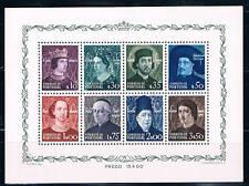 Portugal. Hoja Bloque con 8 sellos personajes. HB 14**. Valor 110 Euros