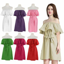 Boho Boat Neck Regular Size Dresses for Women