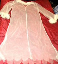 NAUGHTY SEXY WOMAN HALLOWEEN COSPLAY COSTUME ANGEL SHEER SEE THRU GOWN LINGERIE