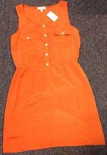 Glam By Festivity Boutique Womens S Orange Shift Dress Retail $87 NWT