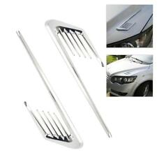 2 Pcs Car Shark gill Side Decorative Air Vent Fender Hole Intake Grille Sticker