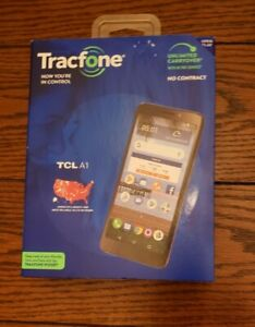 Tracfone TCL A1 4G LTE Prepaid Cell Phone New, Unopened Box.  Ships from US