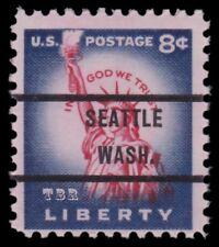 1041 Statue of Liberty 8c SEATTLE WA. Bureau Precancel Issue 76 MNH - Buy Now