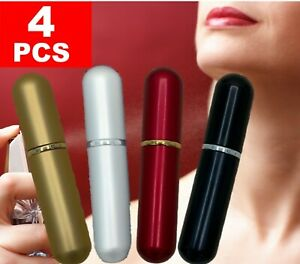 4PCS 6ml Travel Refillable Perfume Atomizer Mini Bottle For Spray Scent Pump