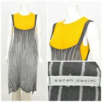 Womens Sarah Pacini Knit Tunic Jumper Sleeveless Grey Stretch Size 1 / S