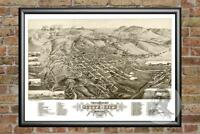 Old Map of Butte City, MT from 1884 - Vintage Montana Art, Historic Decor