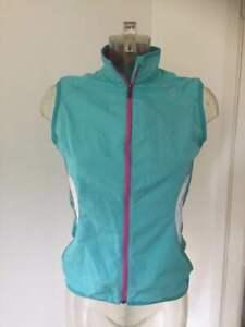Salomon Women's Running Vest Gilet Zip Up Jacket Top Water Resistant - Size S