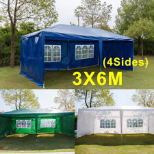 New 3X3m/4m/6m Waterproof Garden Gazebo Party Tent Marquee Awning Canopy Shelter